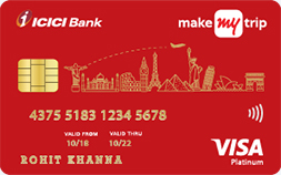MakeMyTrip ICICI Platinum Credit Card