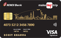 MakeMyTrip ICICI Signature Credit Card